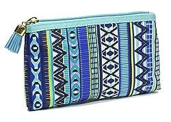 Modella Indigo Hues Collection Cosmetic Purse Kit, Tribal