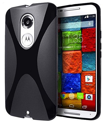 Motorola Moto X (2nd Generation) Case, Cimo [Wave] Premium Slim TPU Flexible Soft Case For Motorola Moto X (2nd Generation, 2014) - Black