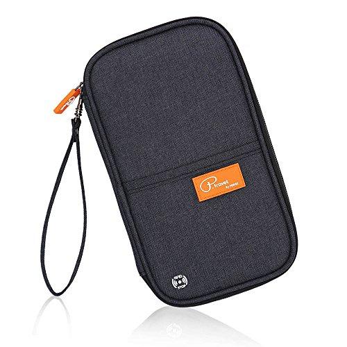 Travel Passport Wallet RFID Family Passport Holder Waterproof Document Organizer (Black) by ePouch