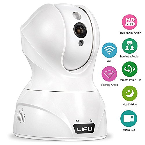Wireless IP Camera, LiFu 1280 x 720P Home Security Surveillance HD Pan and Tilt WiFi Camera Built-In Microphone with Night Vision for Pet, Baby Video Monitoring X 10 Wireless Camera