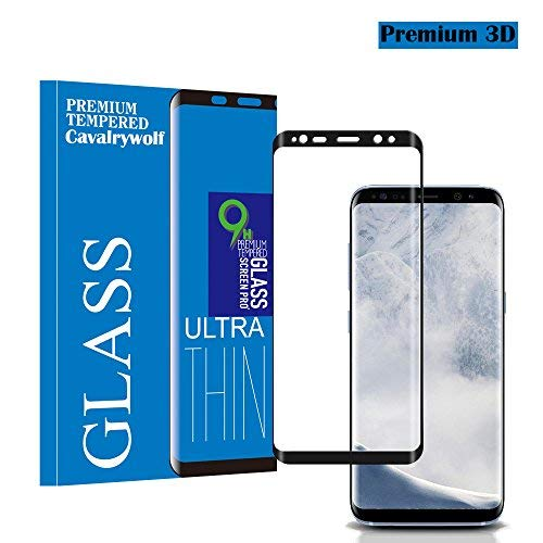 Samsung Galaxy S9 Screen Protector, Premium 3D Full Coverage Tempered Glass [Ultra Clear] [Scratch Terminator] [9H Hardness] [High Definition] Screen Protector for Samsung Galaxy S9 ()