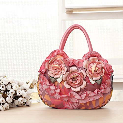 JAGENIE Zipper Toile Femmes Simple Sac Casual Sac Pocket Lady Fleur PIrwIq