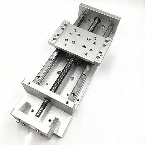 CNCSlidingTable 200mm Heavy Load 250kg Stroke Square Rails Electric Horizontal Ballscrew 1605 Cross Slide C7 for CNC Engraving Machine