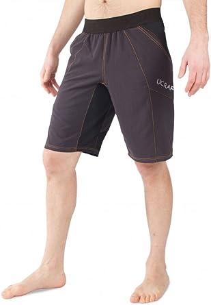 Pantalones cortos de escalada Ucraft Boulder antigravedad ligeros, elásticos, resistentes y transpirables.