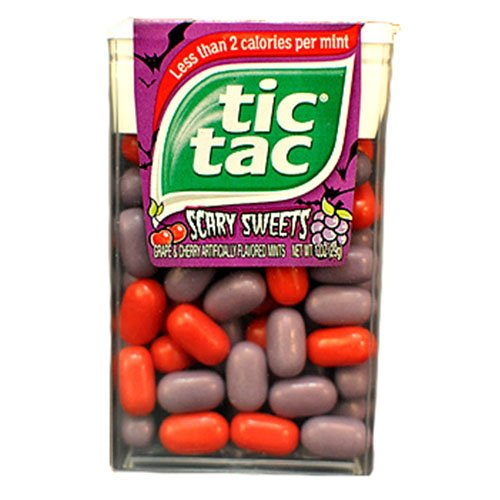 Tic Tac Scary Sweets Grape and Cherry Flavored Mints (Tic Tacs Grape compare prices)