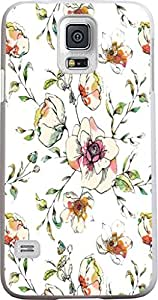 Case for Samsung Galaxy S5 hand painting elegant colorful floral flower print pattern theme