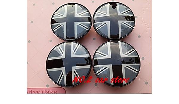 Embellecedores de tapacubos Mini S Negro Black Bandera Flag UK (4 unidades de 54 mm) ...: Amazon.es: Coche y moto