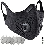Tools & Hardware : BASE CAMP Dust Pollution Mask Activated Carbon Dustproof Mask with Adjustable HOOK&LOOP Strap and N99 Filters Neoprene Air Pollution Mask for Allergy Woodworking Running
