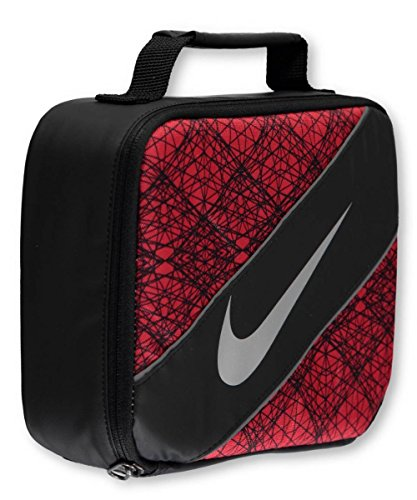 Nike Large Insulated Lunchbox - black/university red, one size
