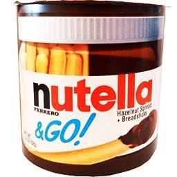 Nutella & Go Hazelnut Spread Breadsticks Net Wt 1.8 Oz (52g) (Pack of 6)