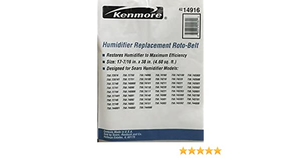 Kenmore Humidifier Replacement Roto-Belt No, 42-14916