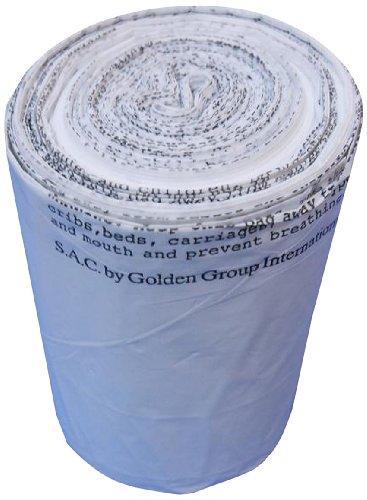 TD9022 S.A.C TD9022-06 Plastic Sanitary Napkin Disposal Medium Bin Liner, 16
