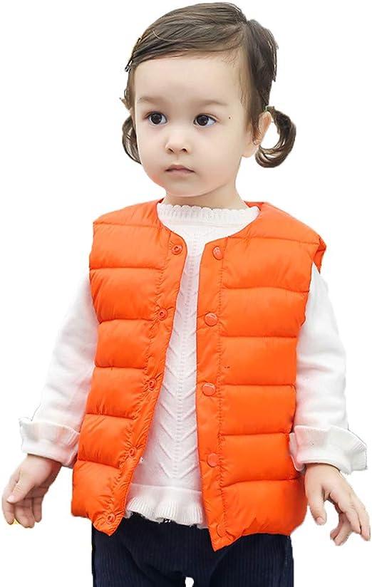 LittleSpring Little Boys Girls Lightweight Puff Jacket Solid Color