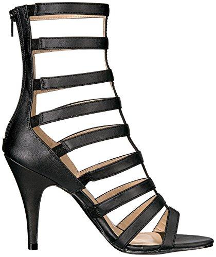 Traum 438 Sandale Schnürstiefel mit Fersenriemen und mattschwarz - (EU 40 = US 10) - Pleaser Rosa-Aufkleber
