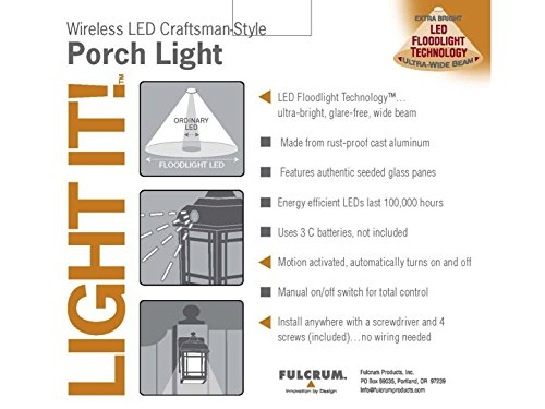 light it by fulcrum 32001 107 3 led wireless motion sensor Heath Zenith Motion Sensor Light Wiring Diagram light it by fulcrum 32001 107 3 led wireless motion sensor weatherproof metal craftsman style porch light amazon com heath zenith motion sensor light wiring diagram