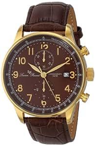 Lucien Piccard Men's LP-10503-YG-04-BR Montilla Analog Display Japanese Quartz Brown Watch