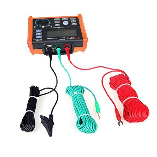 KKmoon Earth Ground Capacitance Meters Resistance Tester Voltage Digital Meter 2&3pole Modes 0~4.00kΩ 0V~200V by KKmoon