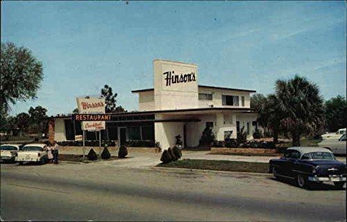 (Street View of Hinson's Restaurant and Cocktail Lounge Homosassa Springs, Florida Original Vintage Postcard)
