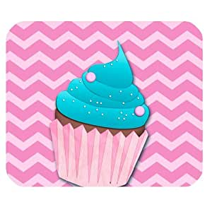 "Pink chevron & Colorful Cupcakes Mousepad Size(9.84""x7.87"") Customized Rectangle Mousepad"