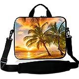 Wondertify 17-17.3 Inch Water-resistant Neoprene Laptop Shoulder Bag Sleeve Briefcase - Hawaii Summer Beach Laptop Carrying Bag Case for Macbook/Tablet/Laptop/Notebook/ASUS/Samsung/Lenovo/HP/Dell