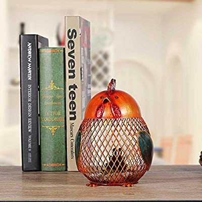 Tooarts Money Bank Rooster Iron Handmade Piggy Coin Bank Practical Craft Home Decoration: Home & Kitchen