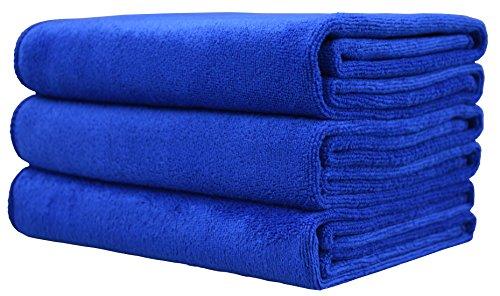 Hope Shine Microfiber Sports Towel Fast Drying Gym Towels 3-Pack 16inch X 32inch (Dark Blue 3-Pack)