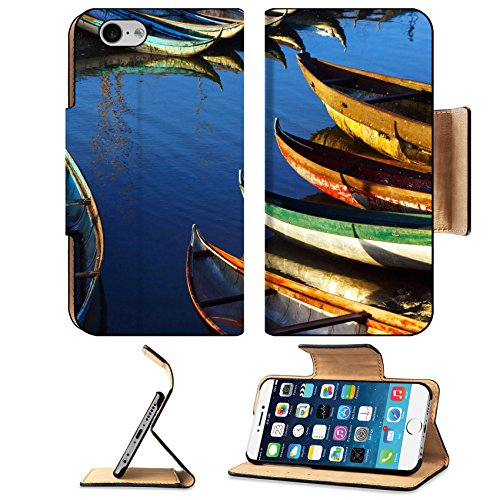 Liili Premium Apple iPhone 6 iPhone 6S Flip Pu Wallet Case IMAGE ID: 21517288 In early moring this place concentrate many small craft of fisherman who live with fishe Ultra Matte Day Concentrate