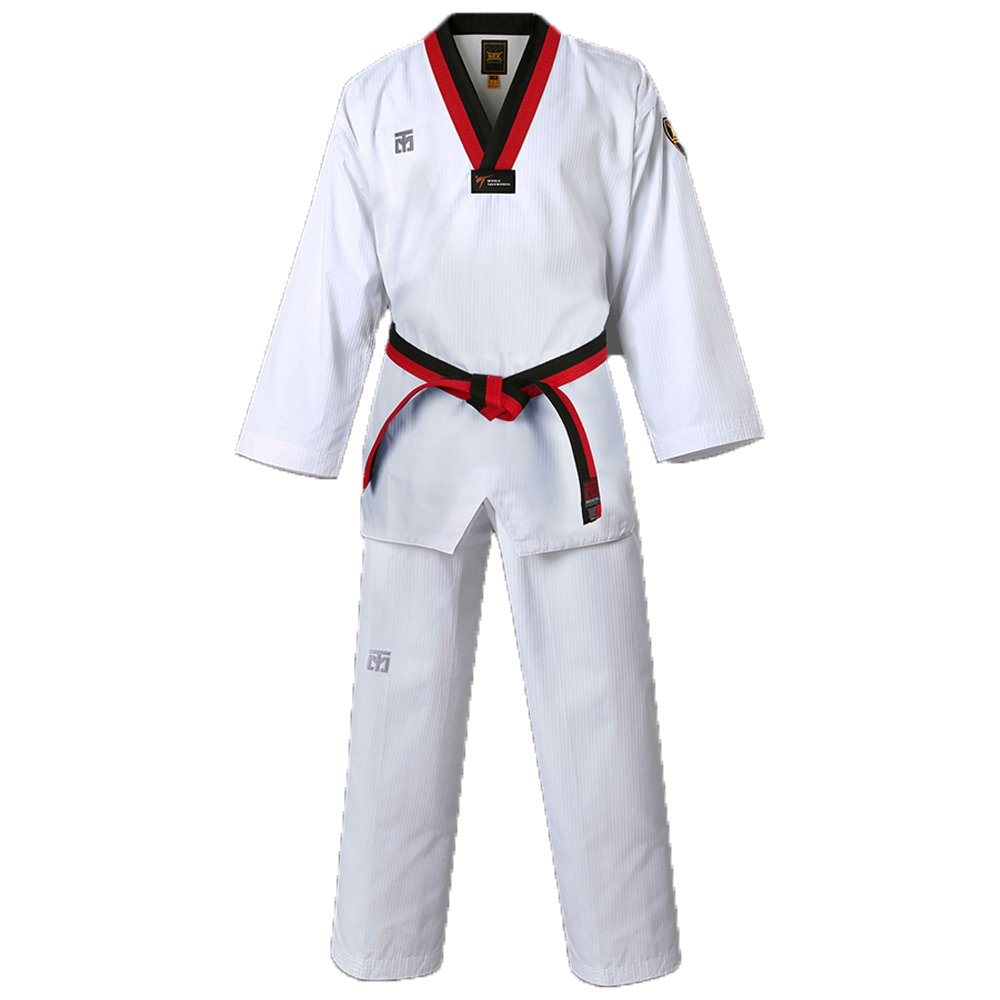 Mooto Taekwondo MTX Basic Uniform Poom Dobok TKD WTF approvaled (140 (Height : 140~149cm)(4.59~4.89ft) by Mooto