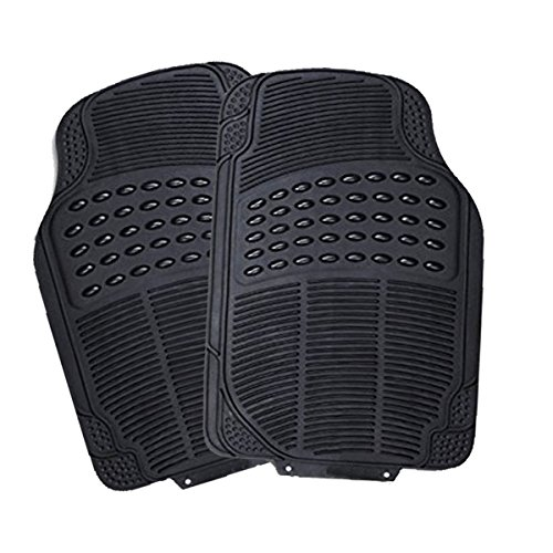 Custom Autos All Weather Heavy Duty Trimmable Car Front Floor Mats – 2-piece - 2 Piece All Weather Floor