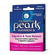 Probiotic Pearls Once Daily Women's Probiotic Supplement, 1 Billion Live Cultures, Survives Stomach Acid, No Refrigeration, 30 Softgels