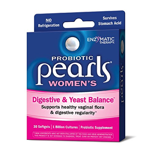 Probiotic Pearls Once Daily Women's Probiotic Supplement, 1 Billion Live Cultures, Survives Stomach Acid, No Refrigeration, 30 Softgels by Nature's Way