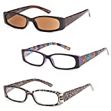 GAMMA RAY READERS 3 Pairs A Ladies' Readers Quality Spring Hinge Reading Glasses for Women +1.00