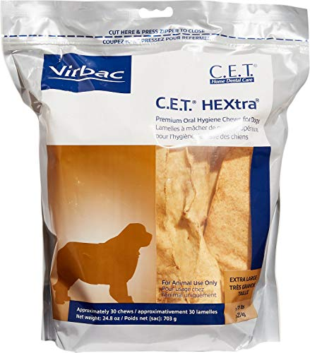 (Virbac C.E.T. Hextra Premium Oral Hygiene Chews For Dogs (1 Pouch), X-Large)