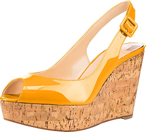 ancho vestir Tacón 46 tamaño Mujer Trusify 10cm Sintético Truabsent EU Naranja de Sandalias 10CM 34 wOBf08p0qn