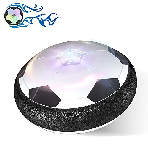 Hover Ball, VersionTech Kids Boys and Pets Toys, Soccer Hockey 2 in 1 Pneumatic Suspension Floating with Colorful LED Lights for Indoor Outdoor Team Interaction Games