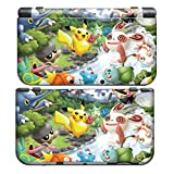 PIKACHU Style for New Nintendo 3DS Skin New3DS N3DS Decal Sticker Vinyl Cover + Screen Protectors