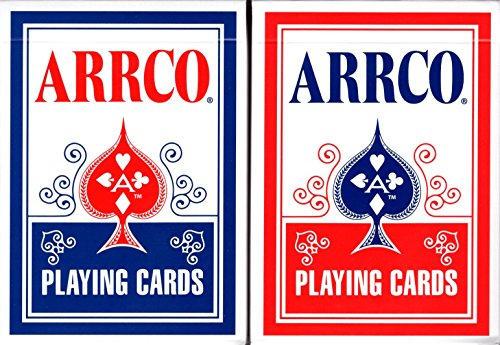 ARRCO 2018 Reprint Playing Cards Blue & Red Poker Size Deck USPCC Limited Edition (2 Deck Set) (Playing 1920s Cards)