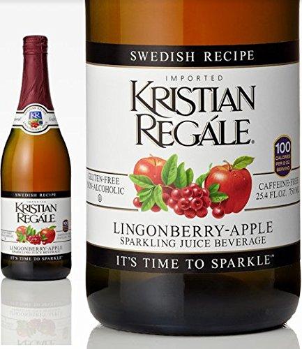 Kristian Regale Sparkling Beverage Lingonberry-Apple 25.4-Ounce Bottles (Pack of 6) by Kristian Regale