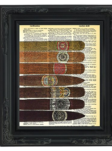 Seven Cigars Dictionary Art Print Printed On Authentic