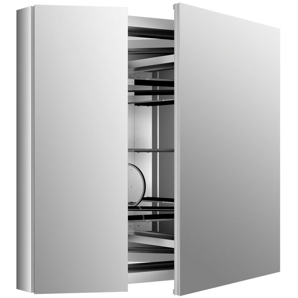 KOHLER K-99009-NA Verdera 34-Inch By 30-Inch Slow-Close Medicine Cabinet With Magnifying Mirror by Kohler