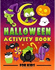 Halloween Activity Book for Kids: A Fun Workbook for Children Ages 3-10 with Mazes, Learn to Draw + Count, Word Search Puzzles, Seek Games, Coloring & More