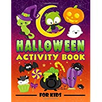 Halloween Activity Book for Kids: A Fun Workbook for Children Ages 3-10 with Mazes, Learn to Draw + Count, Word Search…