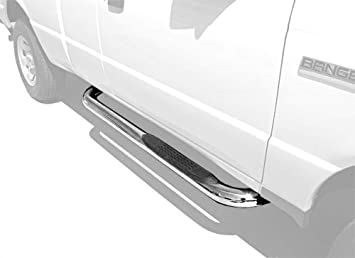 Tyger Auto Custom Fit 97-03 F150//250 LD Super Cab//97-98 Super Cab Black 3 Side Step Rails Nerf Bars Running Boards 2pcs with Mounting Bracket Kit