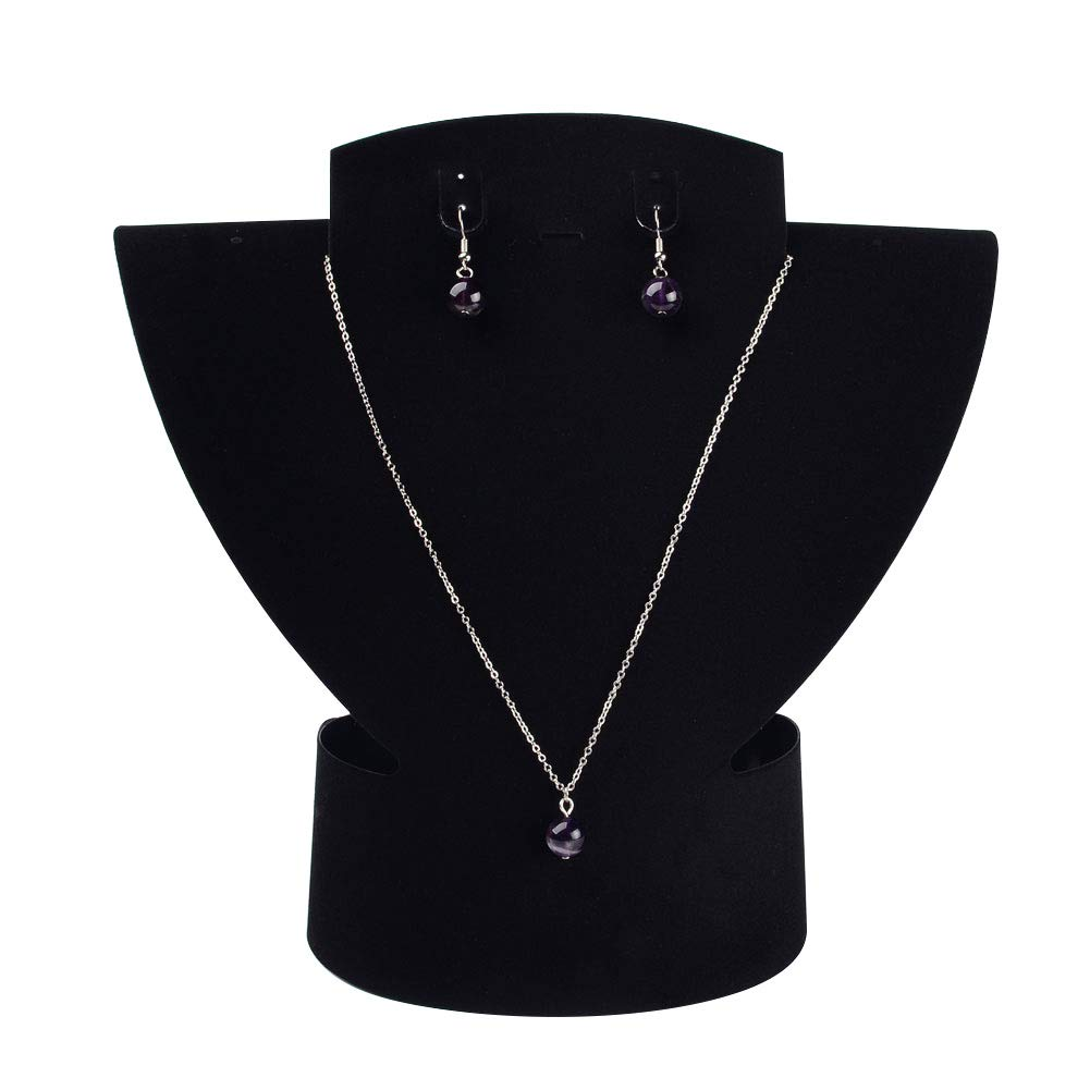 PH PandaHall About 10pcs Black Velet Necklace Bust Displays Necklace Displays Bust Holder Jewelry Displays Bust Stand