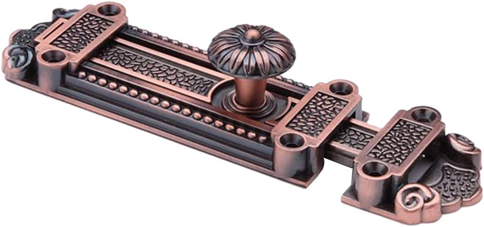 Antike T/ürriegel Schiebet/ür Riegel Bolzenriegel Schubriegel Riegelverschluss Torverschluss Rote Bronze