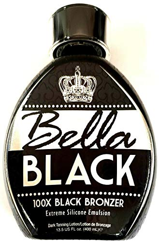 Bella Black 100X Bronzer Tanning Lotion – Premium Tanning Bed Lotion with Extreme Silicone Emulsion and Banana Fruit…