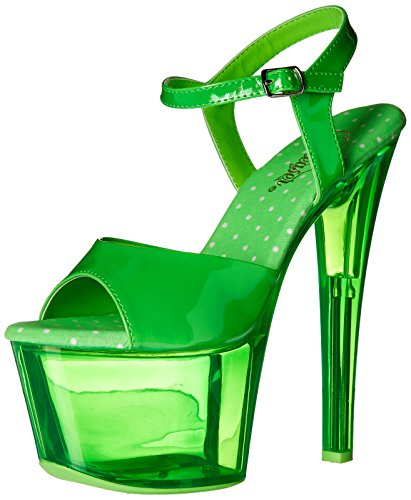 Dancer Platform (Pleaser Women's Sky309uvt/Ngn/Gnt Platform Sandal, Neon Green/Green Tinted, 8 M US)