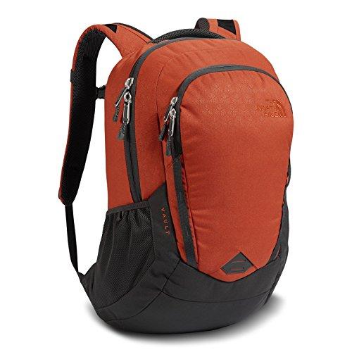 (The North Face Vault Backpack - Ketchup Red Emboss & Asphalt Grey - OS (Past Season))