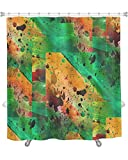 Gear New ''Frame Graphic Style Brown Green Palette Picture Texture'' Shower Curtain, 74'' X 71''