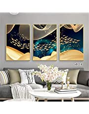 Wall Art Modern Painting Simple Nordic Style Fish Poster Canvas 3 Pieces Art Gift Home Print Decoration Framed Picture for Living Room and Home Decor Artwork Ready to Hang